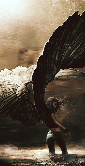 Totally how I imagine Elena from the ARCHANGEL series...  (Grzegorz Rutkowski - great wings)