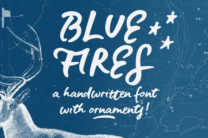 FREE Blue Fires Handwritten Font By TheHungryJPEG