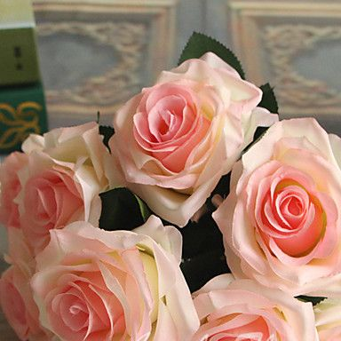 7Heads/Bouquet Artificial Silk Decorative Rose Flower For Wedding Party Decoration Bouquet 6 Colors Artificial Flowers 5121382 2017 – $6.39