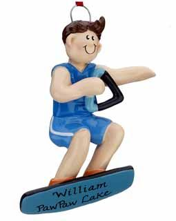 Buy Personalized Wakeboarder Boy - Personalized Water Skiing Christmas Ornaments, Gifts, and Decorations - Ornament Shop