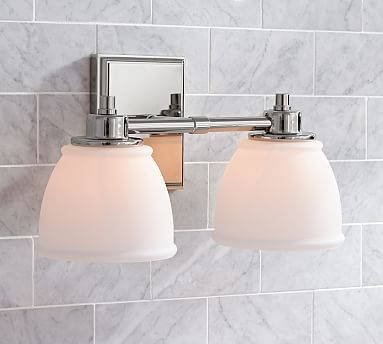 Nice Hayden Hardwired Sconce, Double, Chrome Finish