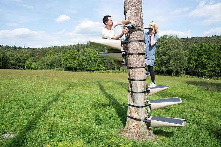 These Spiral Staircases Can Be Strapped On To Any Tree With Ease ...