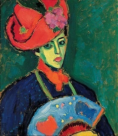Jawlensky was a former Russian army officer turned Expressionist painter, and key member of the Blue Rider, an influential group of Russian emigrants and German artists in the early 1900s that also included Jawlensky's compatriot Kandinsky. Jawlensky's Schokko with a Red Hat may just ride all the way to victory.: Von Jawlenski, Art, Expressionist Painters, Red Hats, Hats 1909, Photo, Columbus Museums, Alexej Jawlenski, Blue Rider