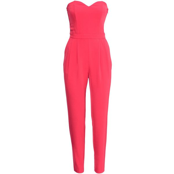 H&M Bandeau jumpsuit found on Polyvore
