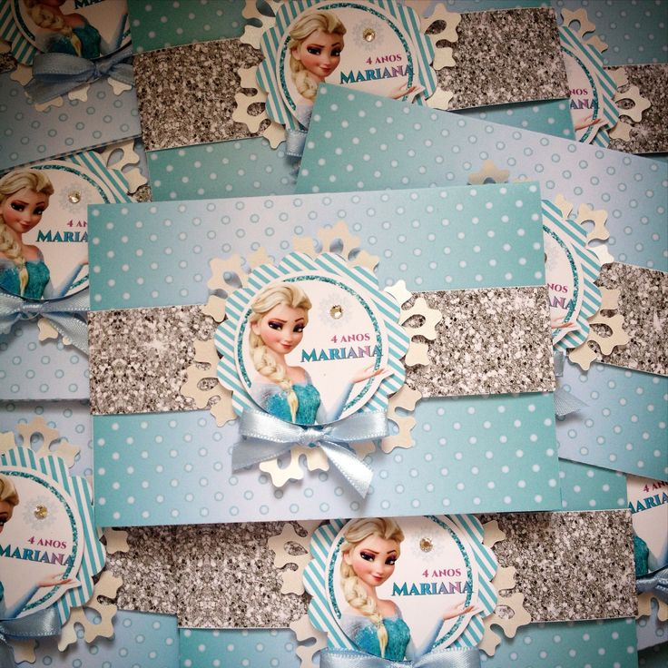 Convites de aniversário Frozen!