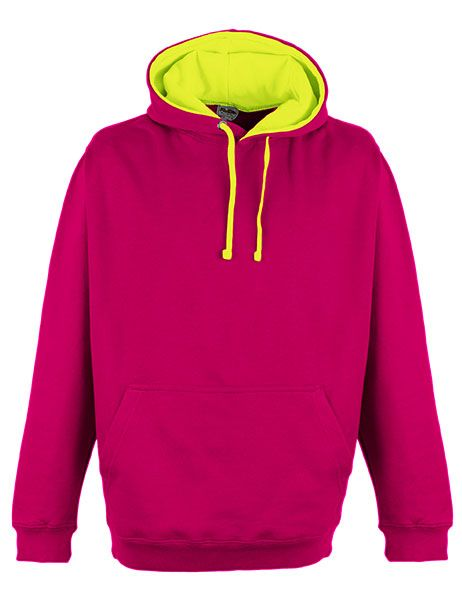 Superbright Hoodie - Hot Pink/Electric Yellow
