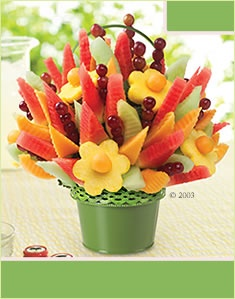 Edible fruit baskets are in my top 3 way above fresh flowers.