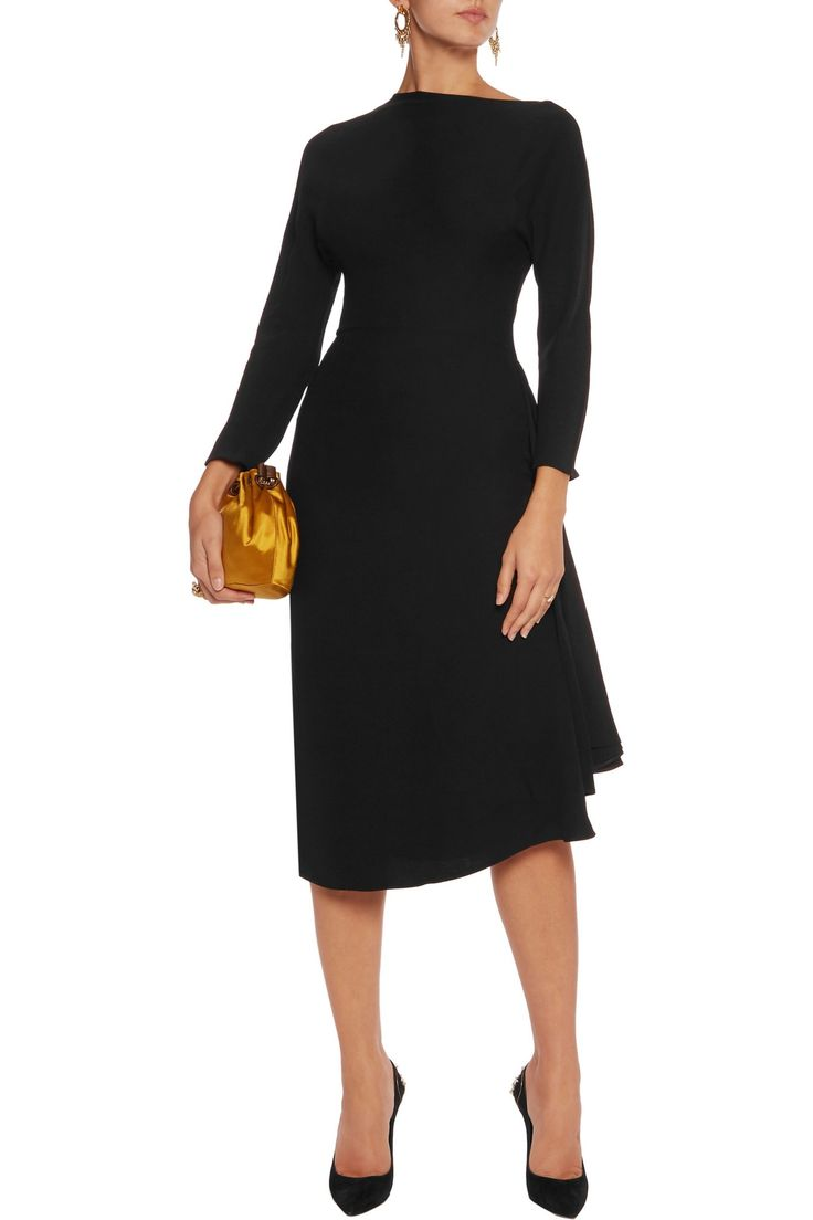 Silk-crepe dress   VALENTINO   Sale up to 70% off   THE OUTNET