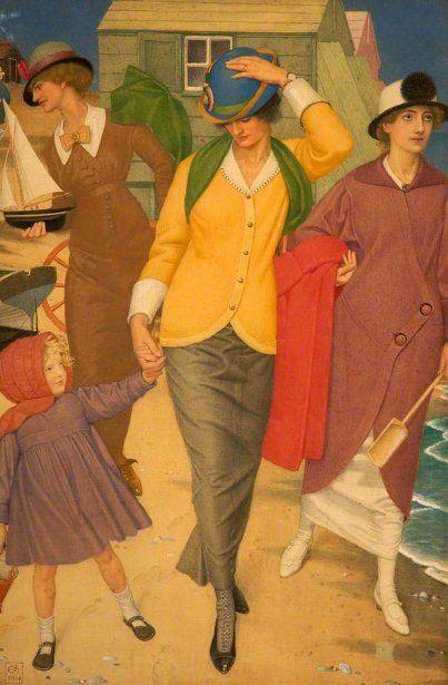 Joseph Edward Southall (1861 – 1944, English) - Along the shore: Southal 18611944, Art Crafts, Southal 1861 1944, British Artists, Art And Crafts, Shore 1914, Joseph Gordon-Levitt, Joseph Edward Southal, Paintings
