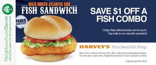 Harvey's April offer, download your coupon at http://neighbourhoodsecret.net #Oakville