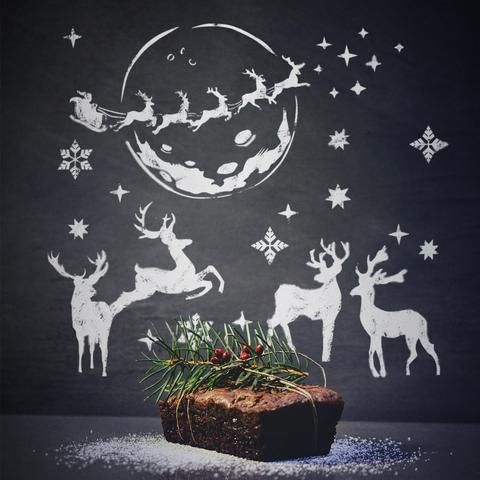 Christmas Deer - Stencils Kit For Window Decoration- Christmas Stencils - Set of 15 Stencils