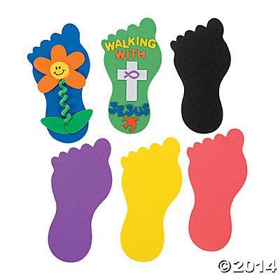 24 Jumbo Foot Shapes - Beautiful Feet (Rom 10:15), Walking to Emmaus (Lk 24:13-32)