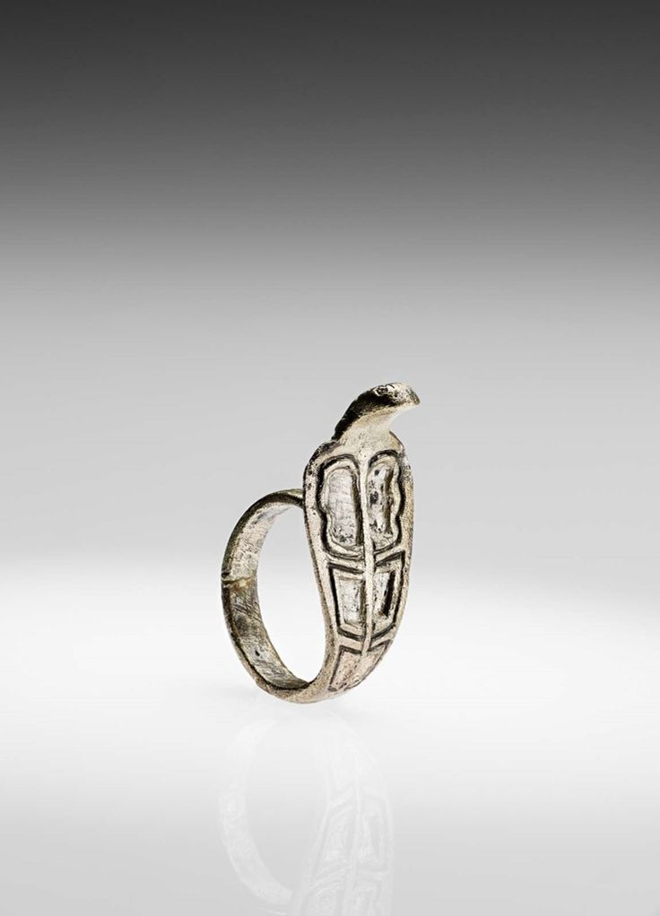 Finger ring in the form of a rearing cobra (Nubian, Meroitic Period, 100–320) Nubia (Sudan), Meroe, Beg. W. 179; Silver