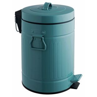Buy Habitat Sesamee Blue Metal 5 Litre Pedal Bin at Argos.co.uk - Your Online Shop for Kitchen bins, Bathroom sets and fittings.