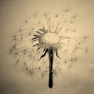 Dandelion Blowing Drawing Tattoo Dandelion blowing drawing