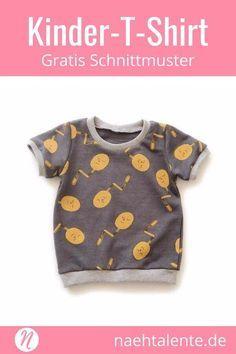 Freebook Kinder-T-Shirt kurzarm – kostenloses Schnittmuster zum selber nähen #n…