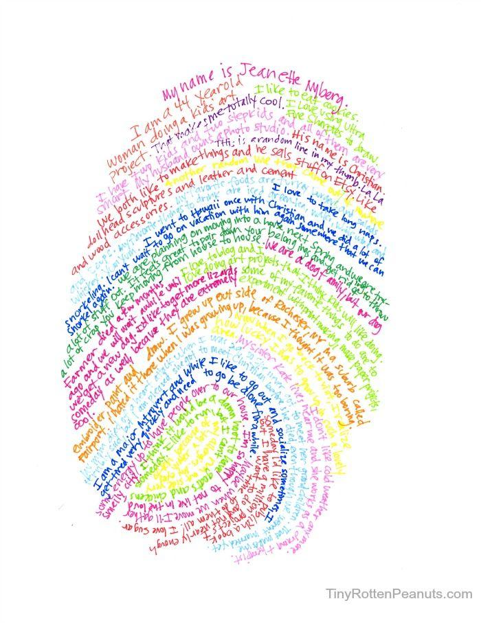 thumbprint self portrait art project - cool art projects for kids