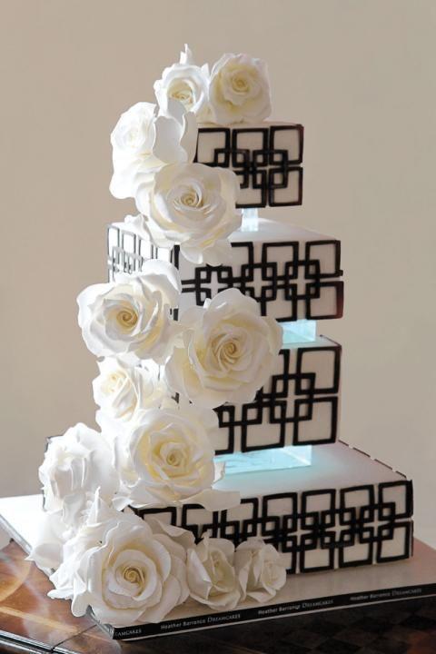 architectural wedding cake inspiration