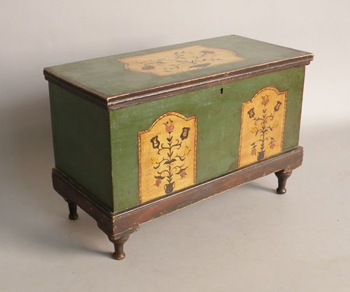 Painted Blanket Chest -- probably Pennsylvania German