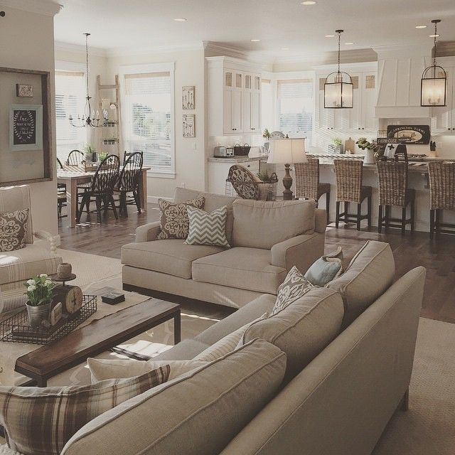366 Best Open Floor Plan Decorating Images On Pinterest Home Ideas House Decorations And