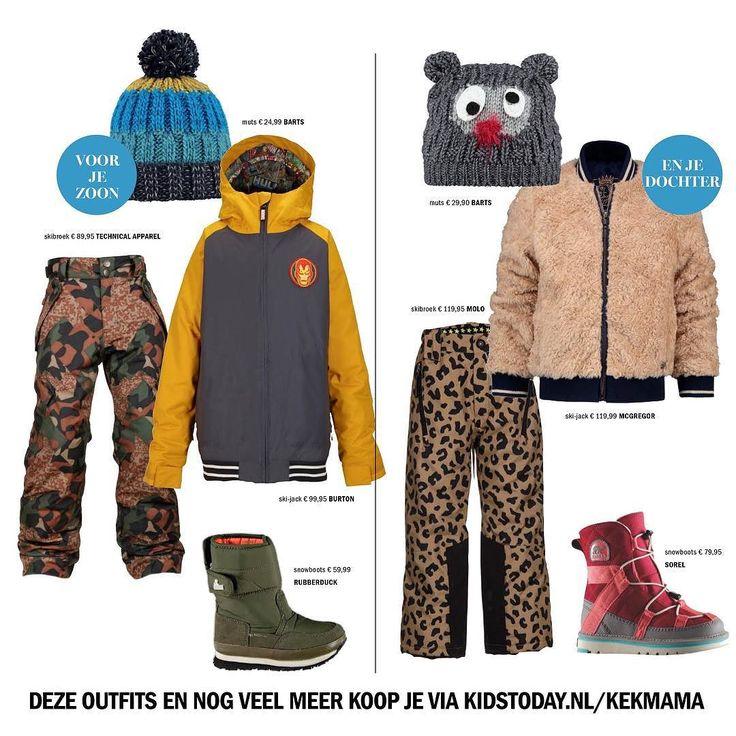 Laat de sneeuw maar komen kunnen we fijn warme kinderkleren en stevige boots shoppen. Deze outfits en nog veel meer koop je via kidstoday.nl/kekmama  #kekmamamagazine #kekmama #magazine #kidstoday #kids #fashion #mode #kinderen #shoppen #winter #boots #snowboots #sneeuw #snow #muts #skibroek #jack #kekmama1