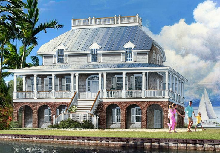 Dramatic Low Country House Plan - 32651WP   1st Floor Master Suite, Butler Walk-in Pantry, Corner Lot, Elevator, Jack
