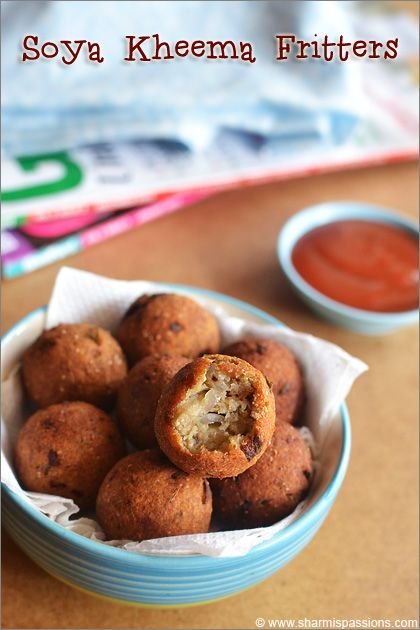 Soya Keema Fritters Recipe (Soya Keema Kola Urundai)