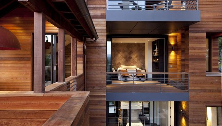 Inside The Contemporary Hillside House -Simply awesome! I love the modern wood/natural look!