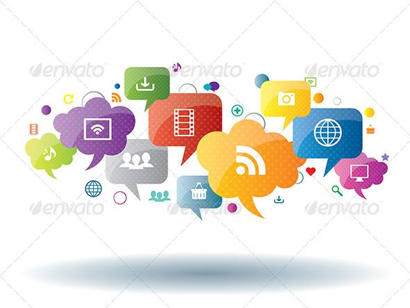 Social Media and Internet Business by cifotart Social network, sharing and security in the internet