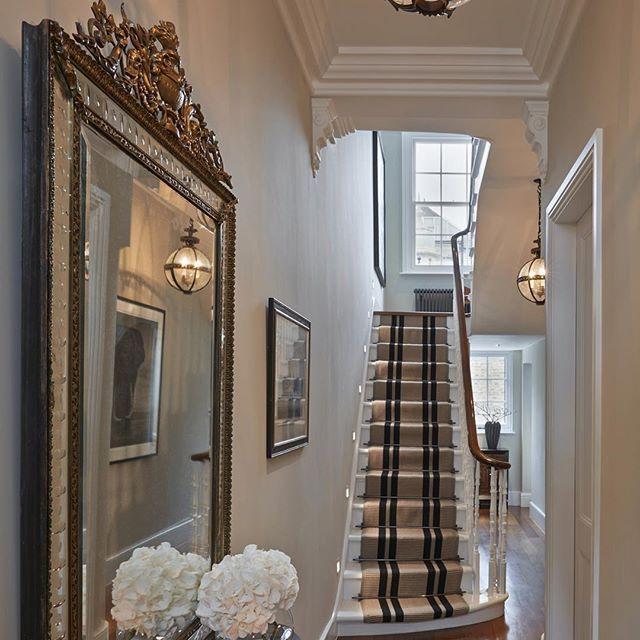 Entrance Hall To The Chelsea Townhouse With Gorgeous Jamb London Chandeliers