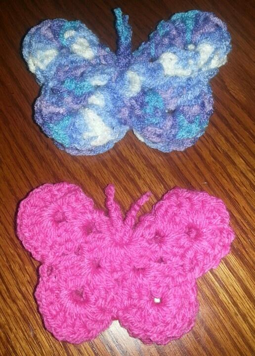 Easy Crochet Butterfly From My Needle Pinterest