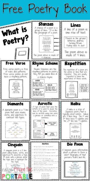 6310 best images about 3rd grade common core on pinterest for Poetry booklet template