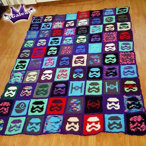 Star Wars Stormtrooper Crochet Blanket Pattern - stormtrooper granny squares, anyone?