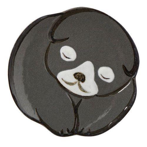 京焼の六兵衛窯より、中村芳中「仔犬図」がモチーフの豆皿です。