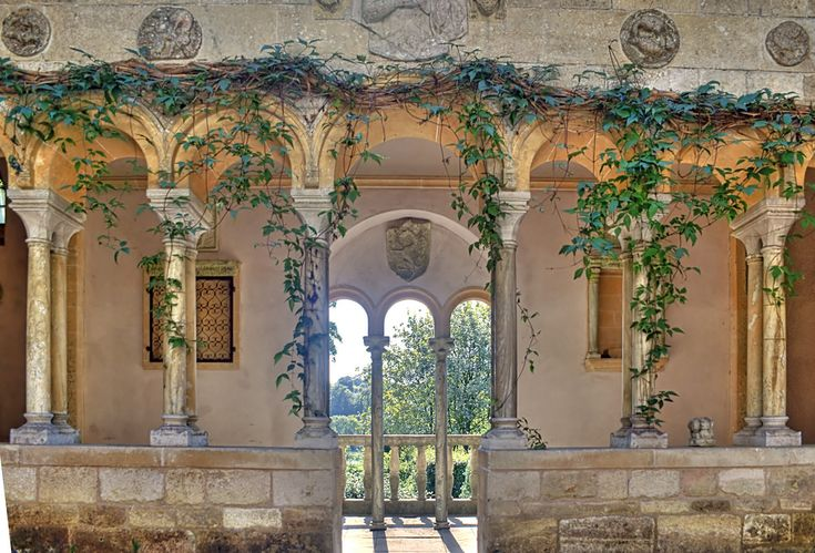 Iford Manor, Wiltshire, England: Arches Columns, Bi Slybacon, Beautiful Places, Houses Ideas, England Bi, Iford Manor, Manor Wiltshir, Wiltshir England, Architecture Portal