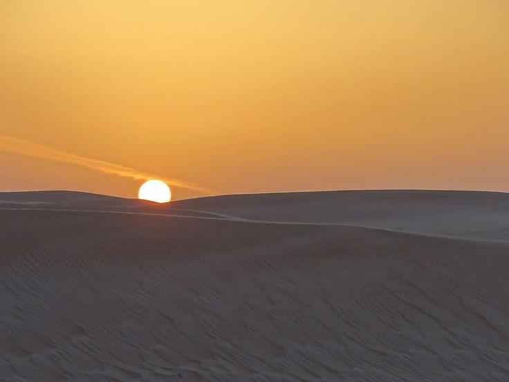 Sunset over the Dubai Desert