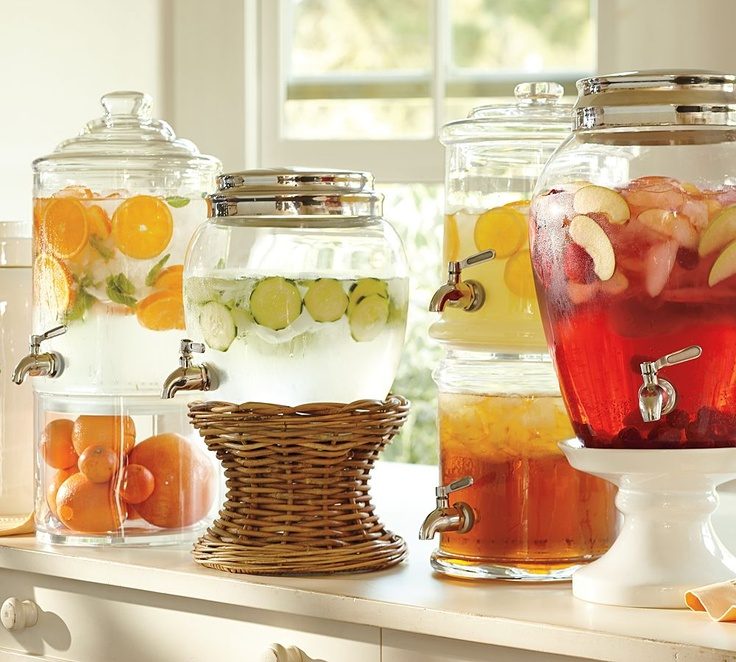 fun drink dispensers from Pottery Barn
