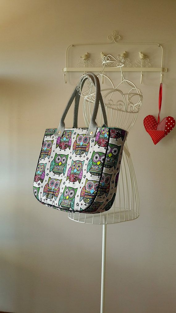 Check out this item in my Etsy shop https://www.etsy.com/listing/188908469/retro-owls-print-tote-bag-large-purse
