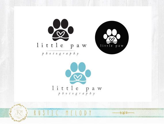Mini Branding Package Paws Logo Design, Dog Logo, Paw Logo, Boutique Logo, Photography Logo, Custom Logo, Premade Logo, Stamp Logo