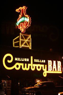 Million Dollar Cowboy Bar (Jackson WY) oh the memories that I shared with my fellow Yellowstoners!