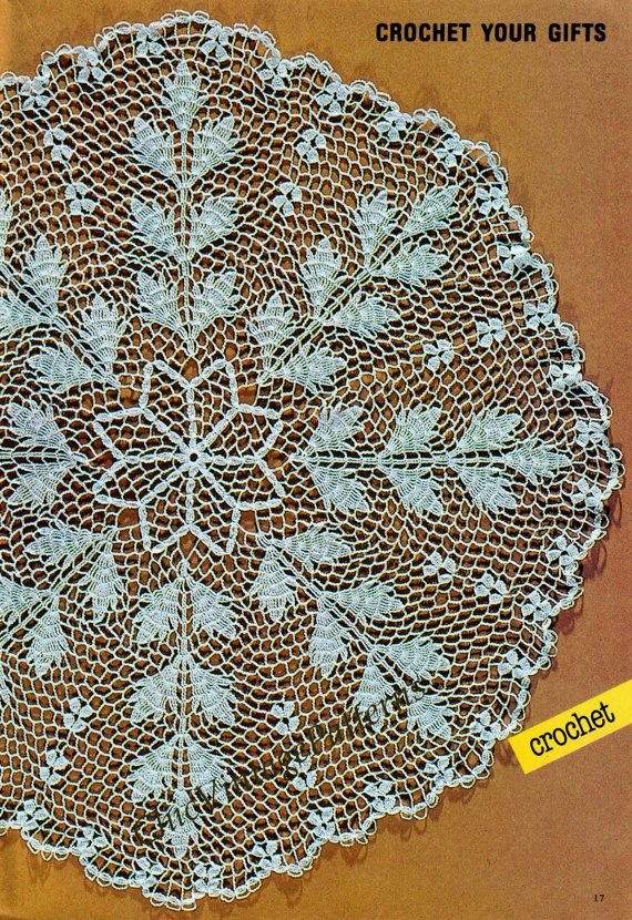 Large Crochet Doily By ChicVintagePatterns Wedding GiftsVintage