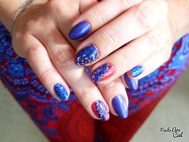 Nails Arc-en-ciel: Nail Art - Fleur de dentelle inspiration Cambodge
