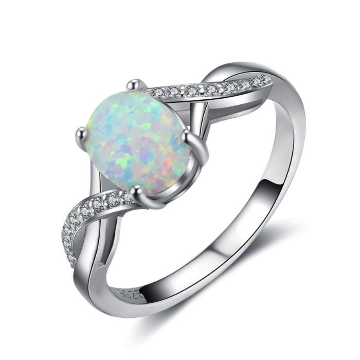 Post Included Aus Wide and to most international countries! >>> Opal Twist Ring - 925 Sterling Silver