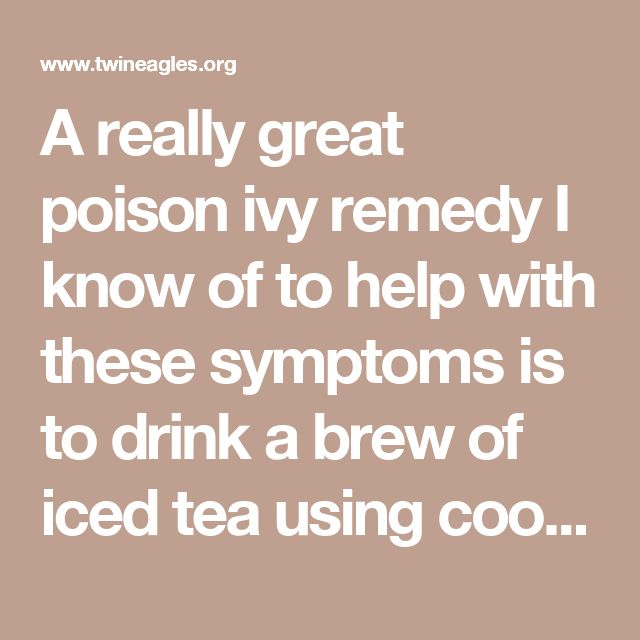 A really great poison ivy remedy I know of to help with these symptoms is to drink a brew of iced tea using cooling herbs. Get a tablespoon each of burdock, dandelion, cleavers, chickweed and mint and steep for an hour or longer in a quart of boiling water. Double the recipe and drink several cups a day. This will definitely help with the hot feeling that comes along with the rash. Do yourself a favor and eliminate hot spicy foods from your diet until the poison ivy is gone.