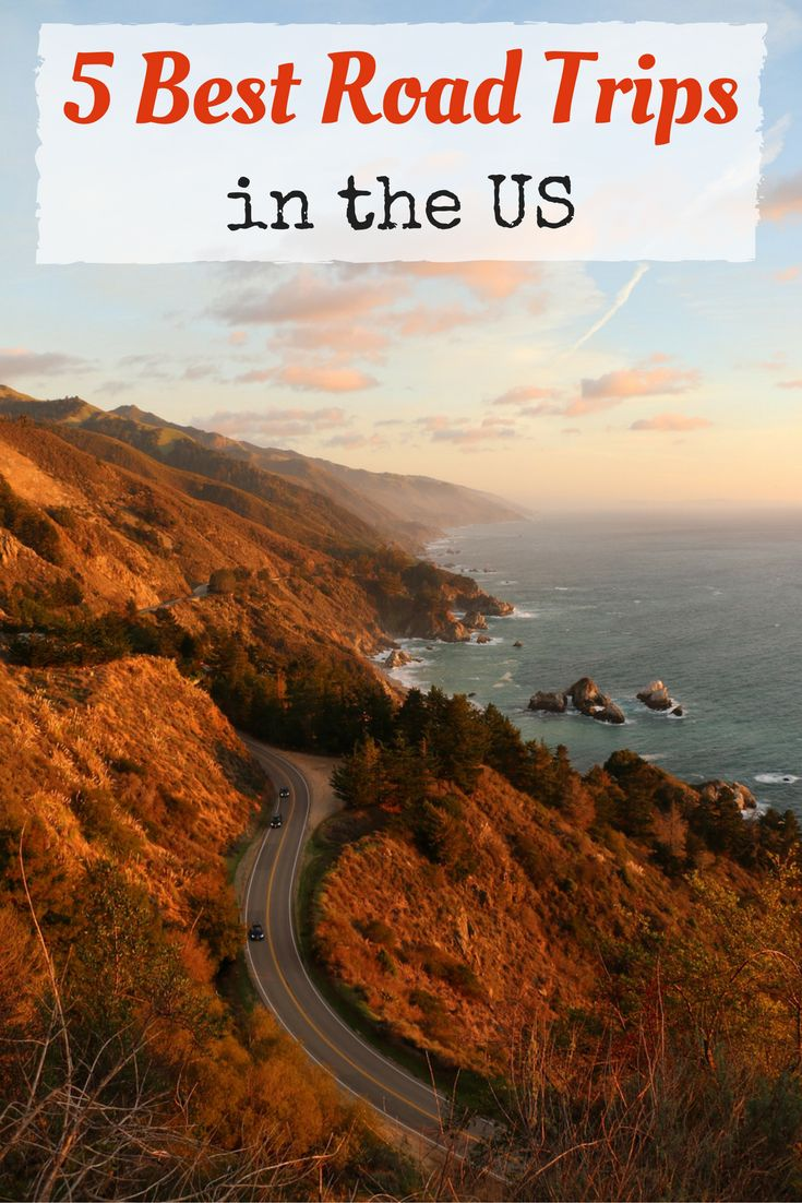 5 Best Road Trips in the US - Road Trips are a great way to see a country, especially one as big as the United States. Check out these amazing Road Trips in the US!