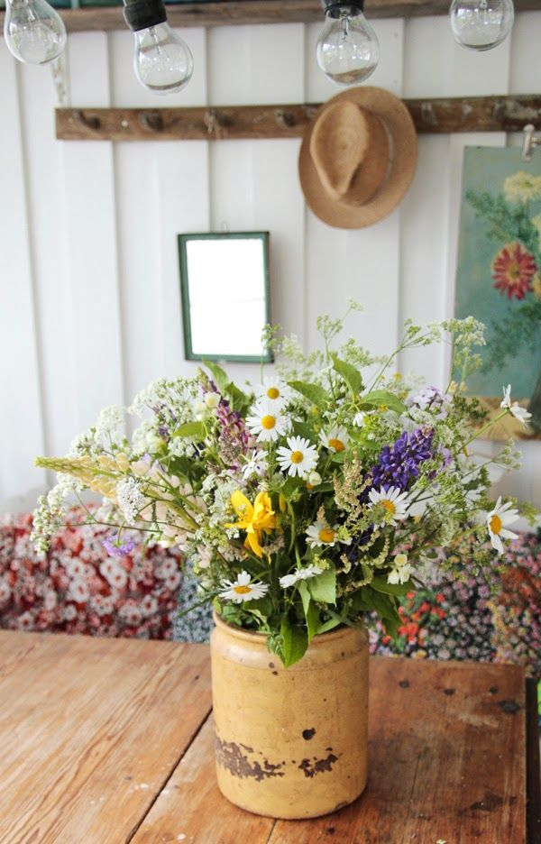 This makes me chuckle, reminds me of all the 'wild flower' posies my sister and I picked my mum.  They contained rarities such as dandelions, daisies, cow parsley, dead nettles.  Mum was always gracious and kept them pride of place.. I hope some day I am the proud owner of a 'wild flower' posy too.