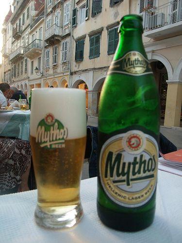 corfu food and drink – Mythos lager