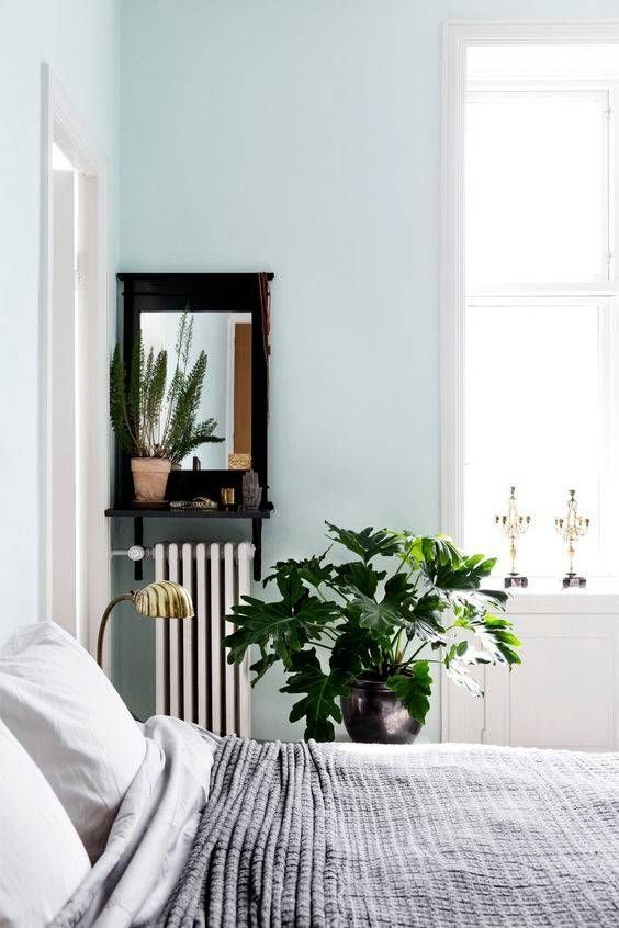 This icy blue paint color is anything but cold.