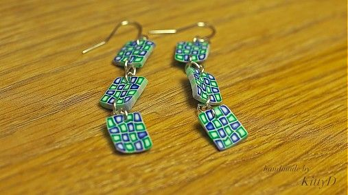 polymer clay earrings by kittyD - SAShE.sk - Handmade