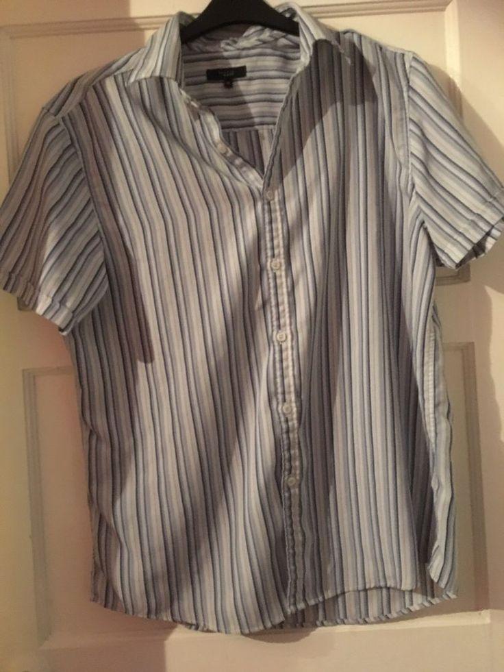 Thomas Nash Mens Short Sleeved Striped Shirt Size Medium from Debenhams   | eBay